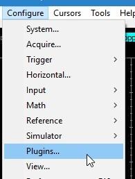 Confgure --> Plugins