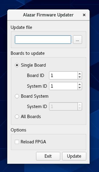 Linux Alazar Firmware Updater