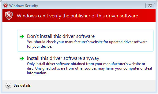 Error when installing on a Windows 7 SP1 machine without security update KB3033929